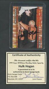 Hulk Hogan AUTO Certified with TOWEL HOF GREAT