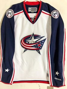 Reebok Women's Premier NHL Jersey Columbus Blue Jackets Team White sz S