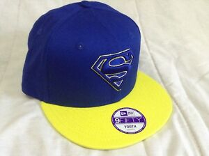 Youths New era 9fifty SnapBack superman cap with adjustable strap brand new
