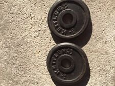 "Kettler Dumbbell 1"" Hole ( 2 )Weight Plates (2.2 Lbs)"