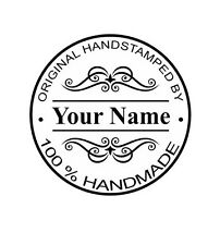 MOUNTED  PERSONALIZED HAND STAMPED CUSTOM RUBBER STAMPS HS02