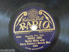 """78rpm 8"""" WALTER MILLER sarah jane / when i met connie in the cornfield"""