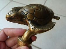 Gorgeous Vintage Sea Turtle Brass Garden / Outdoor Faucet New