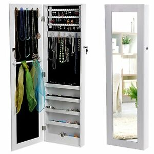 Wardrobe Mirror for Jewelry Mounted Wall - Trinket Box And - Strong Jewellery
