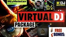 Virtual DJ Pro Software Package Windows Mac DJ Tools DVD Read Details