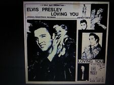 ELVIS PRESLEY LOVING YOU LP BLACK&WHITE COVER NEAR MINT A