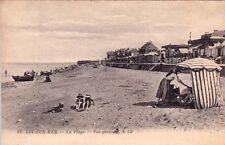 LUC-SUR-MER 12 LL la plage vue générale timbrée 1920