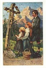 AK Betende Familie in Tracht, Unser täglich Brot! 1900