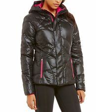 NWT Spyder Women's Geared Hoody Synthetic Down Jacket Blk/Volt sz Medium $199