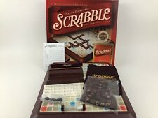 Deluxe Scrabble Turntable Crossword Game Complete Parker Brothers 2001
