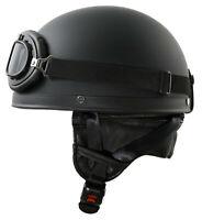 Oldtimer Helm Schwarz Matt Halbschale für S51 Schwalbe Star SR1 SR2 MZ ES TS