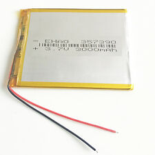 3.7V 3000mAh lipo Polymer Battery For mobile pphone camera PDA Tablet PC 357390