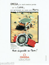 PUBLICITE ADVERTISING 096  1998  Omega montre  speedmaster X33  la lune & Mars
