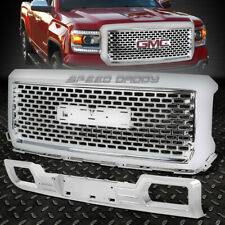 CHROME ABS UPPER DENALI STYLE FRONT GRILLE+LOWER GUARD FOR 14-15 GMC SIERRA 1500