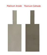 Platinum Coating Anode + Cathode electrodes lab plating perchlorate electrolysis
