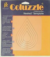 NEW - Coluzzle TEAR DROP Clear Template Quilt Sew Scrapbook Provo Craft