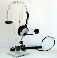 4-pin Rj9 Crystal Head Set Telephone Monaural Corded Headset Silver