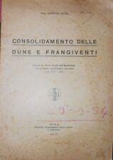 Consolidamento Delle Dune E Frangiventi.,Senni Lorenzo -  ,Roma, 1934,1934