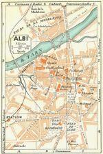 FRANCE. Albi 1926 old vintage map plan chart