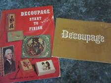 TWO VINTAGE DECOUPAGE BOOKS START TO FINISH AND MORE ABOUT DECOUPAGE ART CRAFTS