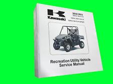 2010 KAWASAKI TERYX 750 TECHNICAL REPAIR SERVICE DEALER MANUAL BINDER BOOK
