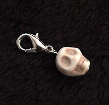 3D Day of the dead Sugar Skull Charm Clip Borsetta Braccialetto Zip Fiore Amore Messicano
