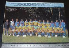 CLIPPING POSTER FOOTBALL 1986-1987 D2 CS THONON JOSEPH-MOYNAT