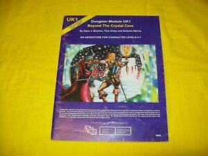 UK1 BEYOND THE CRYSTAL CAVE DUNGEONS & DRAGONS AD&D TSR 9066 3 MODULE