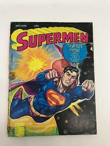 SUPERMAN #96 #97 Turkish Comic Book 1980s DC COMICS Ultra Rare CLARK KENT Kal-El