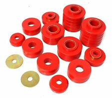 Energy Suspension 80-96 F150 80-97 F250 Body Mount Bushings Red (4.4107R)