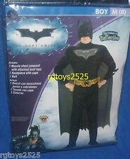 Batman The Dark Knight Muscle Costume Sz 10 L New Childs Halloween Reflective