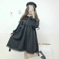 Lady Girl Gothic Dress Lolita Cosplay Japanese Lace Bow Kawaii Sleeve Sweet