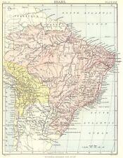 Il Brasile & Bolivia. Britannica 9th EDIZIONE 1898 VECCHIO ANTICO MAPPA piano Grafico