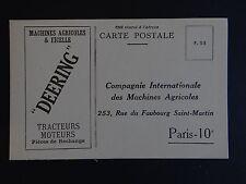 CPA carte postale DEERING Tracteur Troktor Tractor machine agricole PARIS