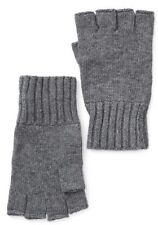 John Varvatos Men's Gray Fingerless Knit Gloves