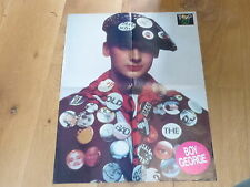 BOY GEORGE  !!!! RARE FRENCH VINTAGE POSTER FROM THE 80'S !!!!!!!!!!!!!!!!