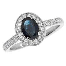 Echte Edelstein-Ringe im Cluster-Stil mit Saphir für Jahrestag