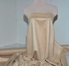 """FAUX SUEDE FABRIC 100% POLYESTER, DOUBLE FACE, SOFT 60"""" CHAMOIS TAN , CLOTHING"""