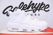 NIKE AIR MORE UPTEMPO PIPPEN 96 BULLS TRIPLE WHITE PACK 921948 100 SZ 13