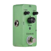 CUVAVE CLASS DELAY Zinc Alloy Circuit Delay Guitar Effect Pedal True Bypass Y9L9