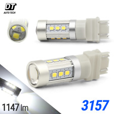 2X 1200 Lumens 3157 50W High Power LED 6000K White Daytime Running Light Bulbs