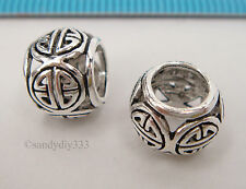 1x STERLING SILVER CHINESE STYLE EUROPEAN BRACELET CHARM SPACER BEAD #2295