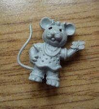 Ratoncito Animal Figura pequeños y pequeñas Lindo Mariposa en mano corbata de moño en la cabeza