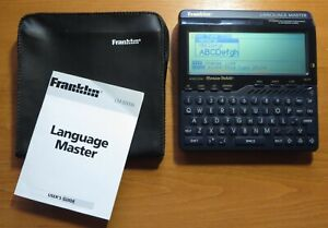 Retro Franklin Language Master Speaking Dictionary LM6000b Instructions Cover