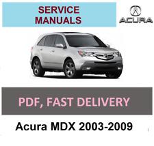 Service Manuals Acura MDX 2003-2009 Service Manual