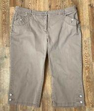 Karen Scott Woman Light Brown Capri's 3 Pocket 2 Button Each Leg End Size 18W