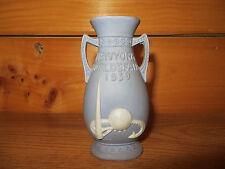 """1939 Worlds Fair """"Jasperware"""" 5"""" Bud Vase (marked Merrie England)"""