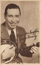 YOURS FOR LAUGHTER GEORGE FORMBY ADVERTISING CARD or POSTCARD - UNUSED