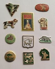 Lot 11 Pin's Chasse Hunting Sanglier Wild Boar Chevreuil Roe Deer