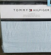 Tommy Hilfiger Oxford Stripe Blue & White Full Sheet Set 4 pc NWT